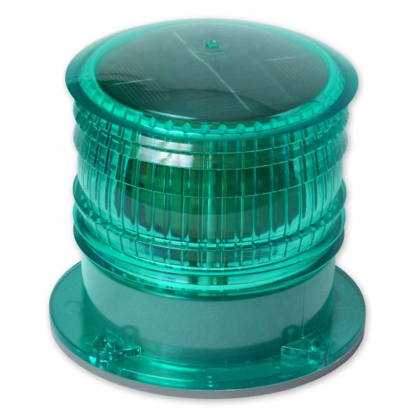 Green High Visibility Solar Warning Beacon