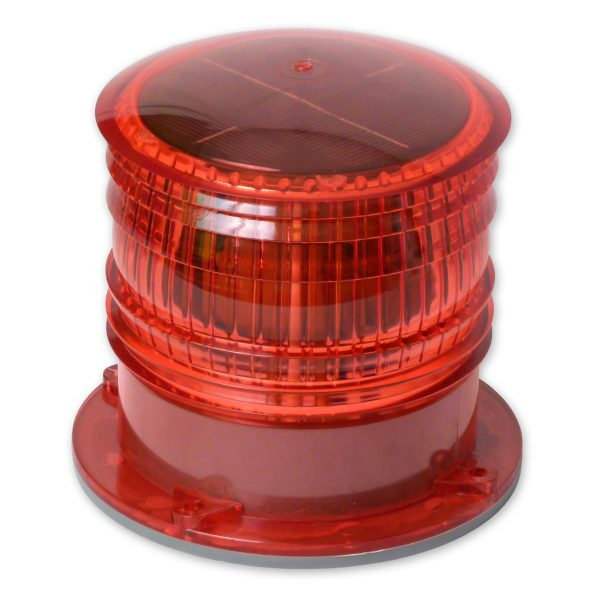 Red High Visibility Solar Warning Beacon
