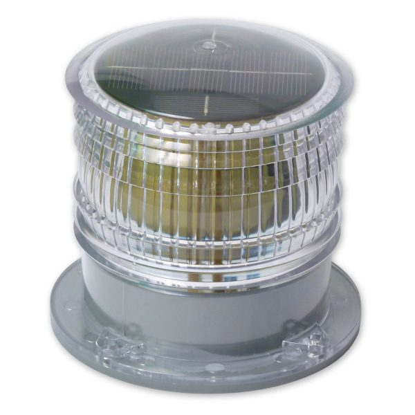 White High Visibility Solar Warning Beacon