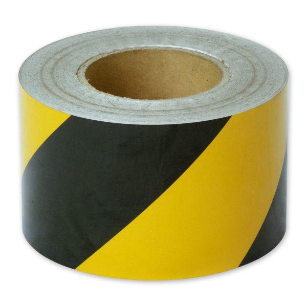 Zebra Tape Black Yellow 100mm