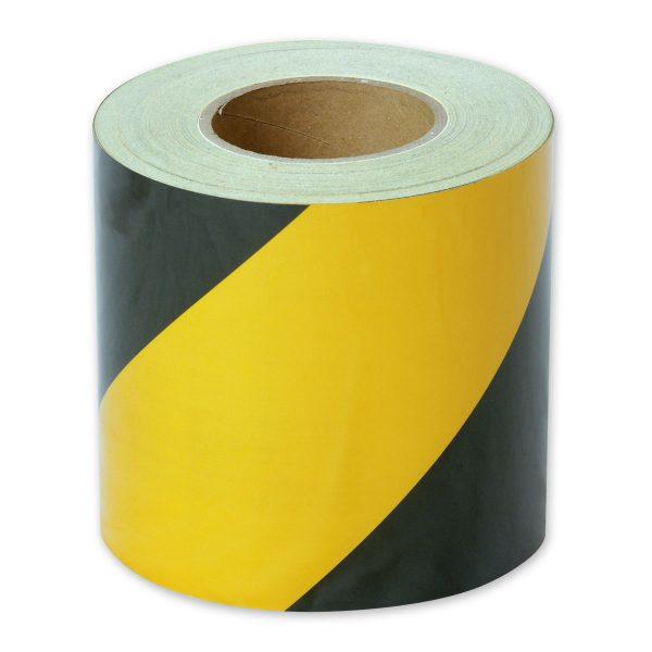 Zebra Tape Black Yellow Class 1 Reflective 150mm