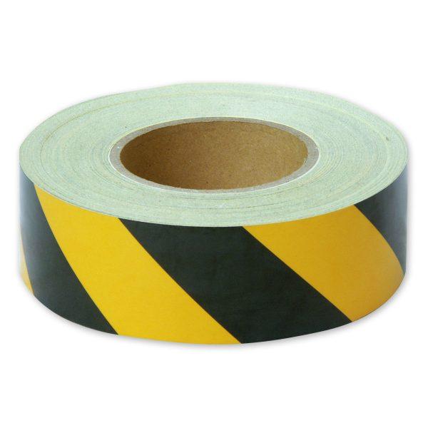 Zebra Tape Black Yellow 50mm