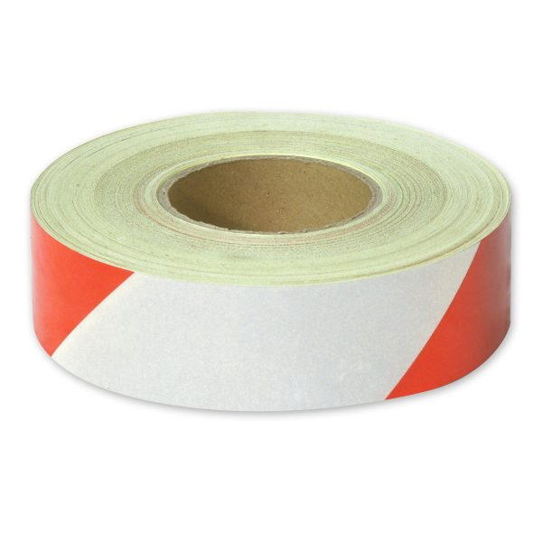 Zebra Tape Red White Class 1 Reflective 50mm