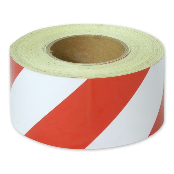 Zebra Tape Red White Class 1 Reflective 75mm