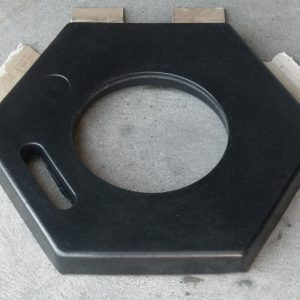 hexagonal bollard base_top