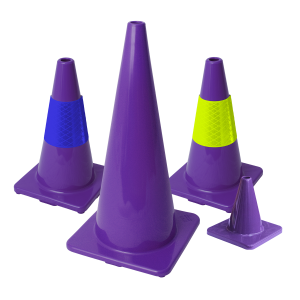 Purple Traffic Cones